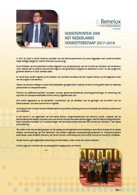 Points forts de la présidence néerlandaise 2017-2018